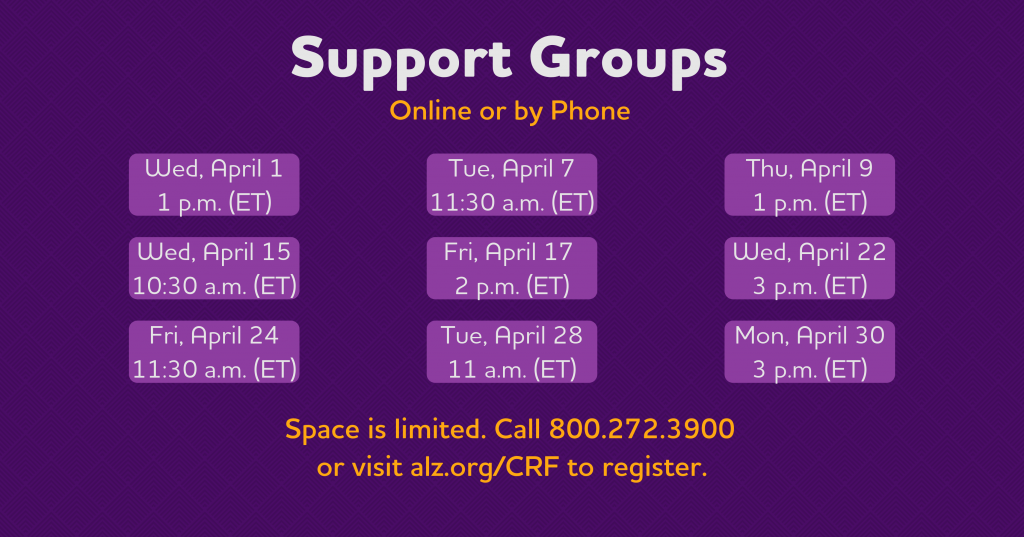 April Support Groups